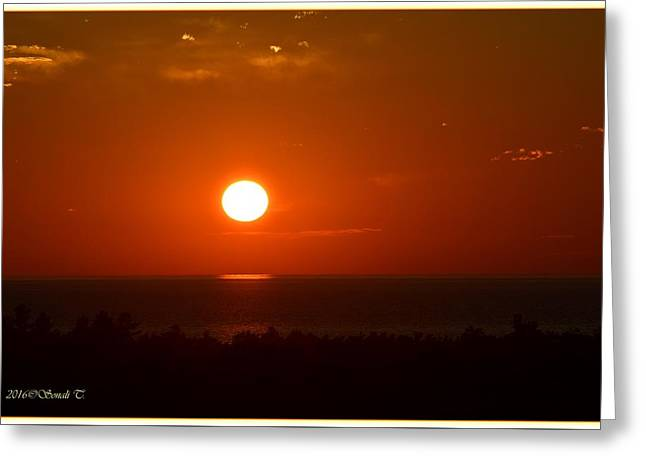 The Saugatuck Sunset Greeting Card by Sonali Gangane