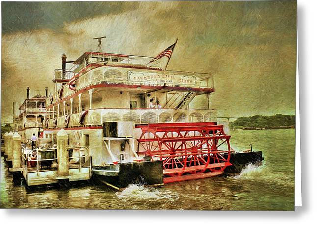 The Savannah River Queen Greeting Card by John Adams