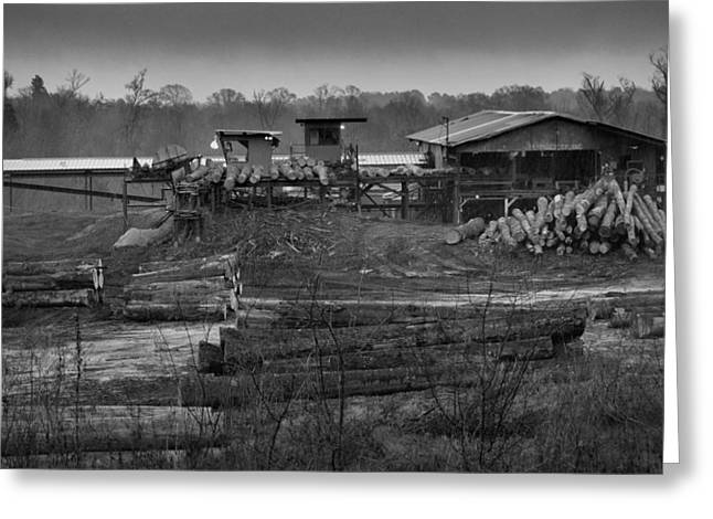 The Sawmill In Nacogdoches Greeting Card