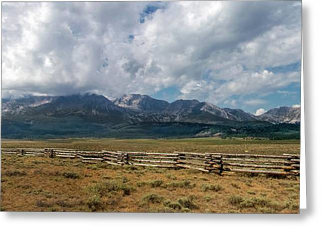 The Sawthooths Greeting Card by Robert Bales