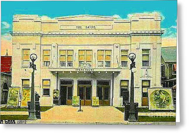 The Sayre Theatre And Opera House In Sayre Pa In 1925 Greeting Card