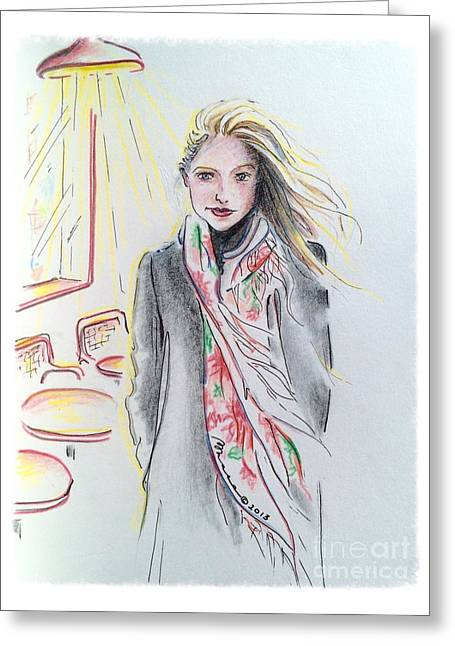 The Scarf Greeting Card by Barbara Chase