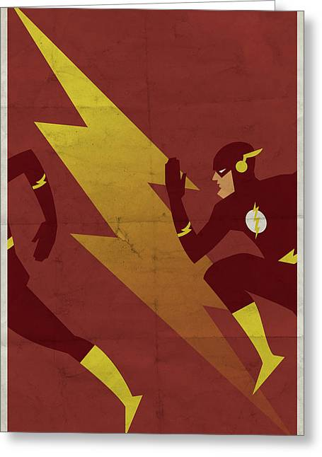 The Scarlet Speedster Greeting Card