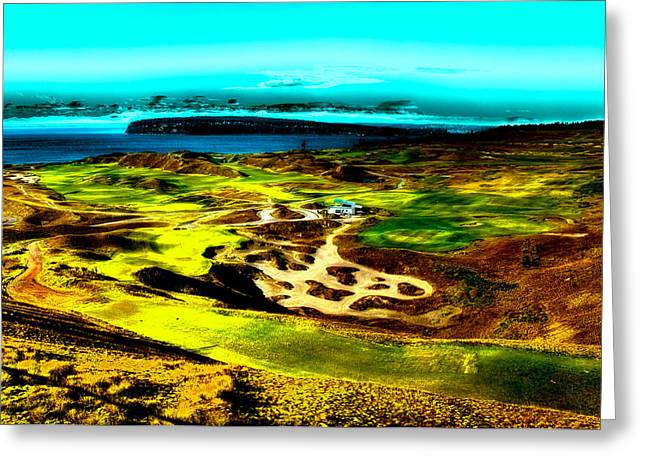 The Scenic Chambers Bay Golf Course Greeting Card by David Patterson