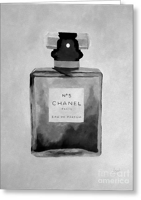 The Scent Black And White Greeting Card