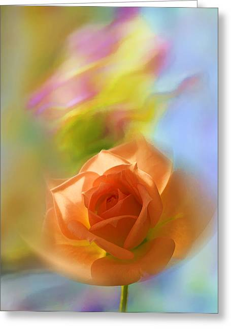 The Scent Of Roses Greeting Card by Vladimir Kholostykh