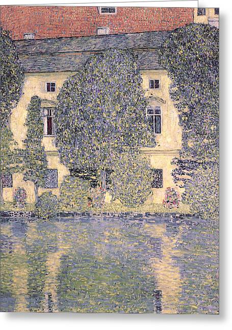 The Schloss Kammer On The Attersee IIi Greeting Card by Gustav Klimt