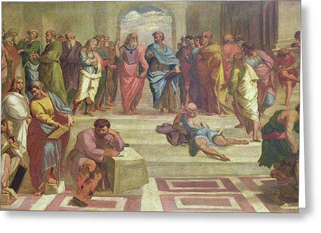 The School Of Athens, After Raphael  Greeting Card by Joshua Reynolds