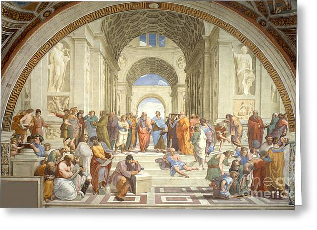 The School Of Athens, Raphael Greeting Card