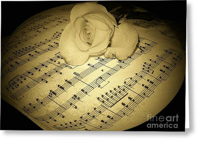 The Schubert Rose In Sepia Greeting Card