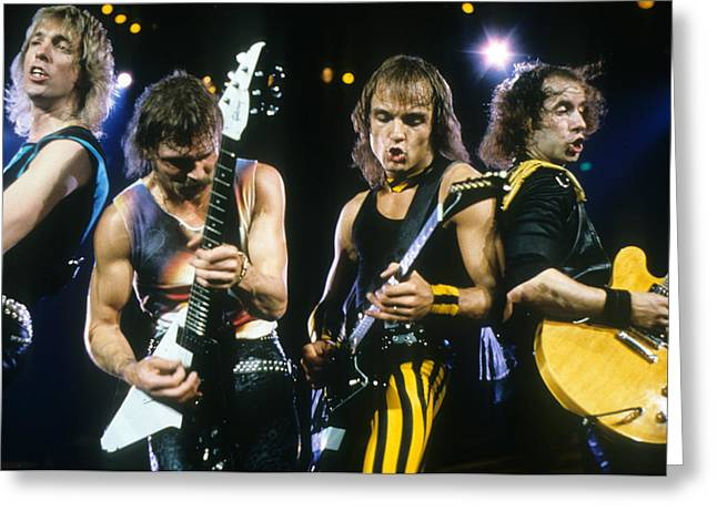 Jabbing Greeting Cards - The Scorpions Greeting Card by Rich Fuscia