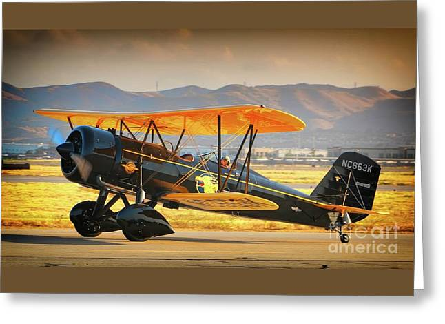 The Scott Familys 1929 Stearman  Version 2 Greeting Card by Gus McCrea