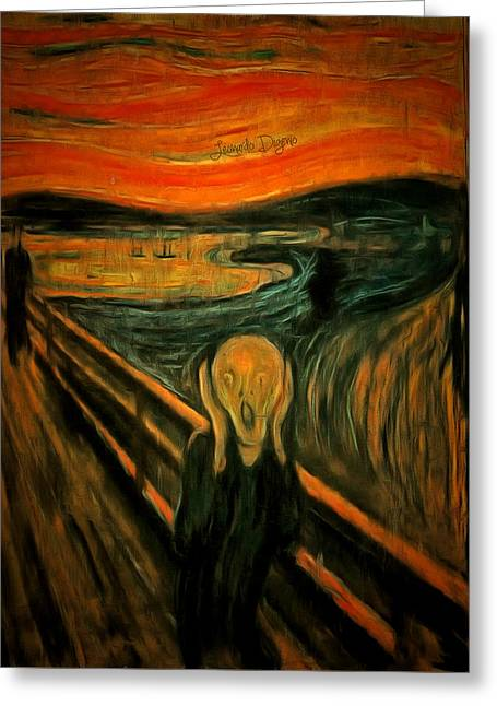 The Scream By Edvard Munch Revisited - Da Greeting Card