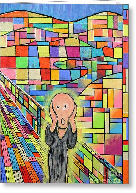 The Scream Jeremy Style Greeting Card