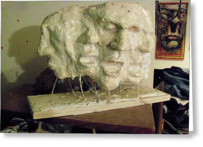 Mold Sculptures Greeting Cards - The Scream Greeting Card by John Baker