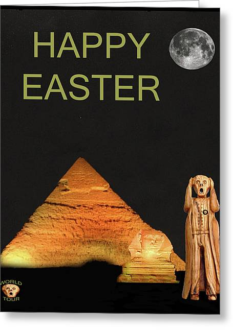 The Scream World Tour Egypt Happy Easter Greeting Card by Eric Kempson
