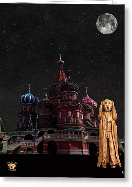 The Scream World Tour Moscow Greeting Card by Eric Kempson