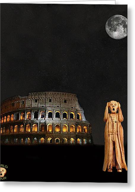 The Scream World Tour Rome Greeting Card