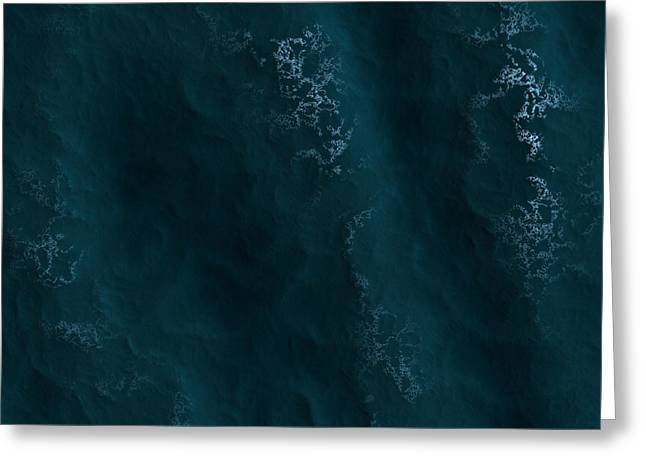 The Sea Greeting Card by Contemporary Art