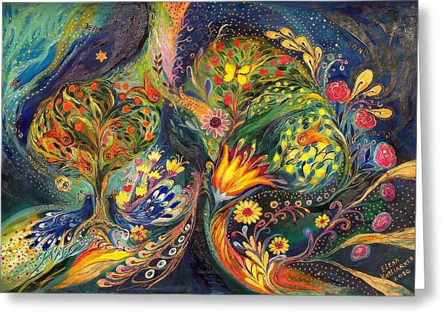 The Sea Garden Greeting Card by Elena Kotliarker