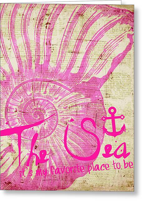 The Sea Is My Favorite Place To Be Greeting Card