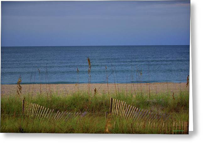 The Sea Shore Line Greeting Card