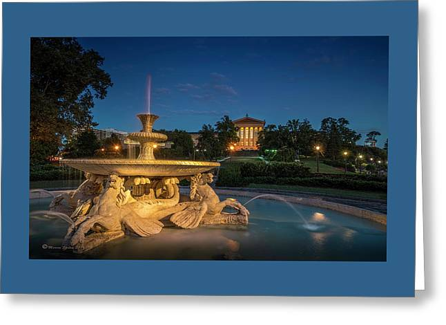 The Seahorse Fountain Greeting Card by Marvin Spates