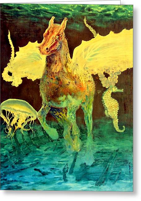 The Seahorse Greeting Card