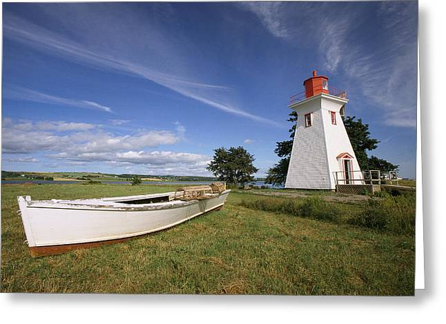 Tourists And Tourism Greeting Cards - The Seaport Lighthouse Museum On Prince Greeting Card by Richard Nowitz