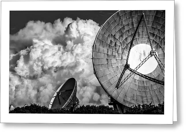 The Searchers 1. A Dramatic Fine Art Photographic Print Of The Radio Telescopes At Goonhilly Downs Greeting Card by Lee Thornberry