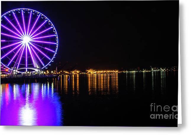 The Seattle Ferris Wheel Greeting Card