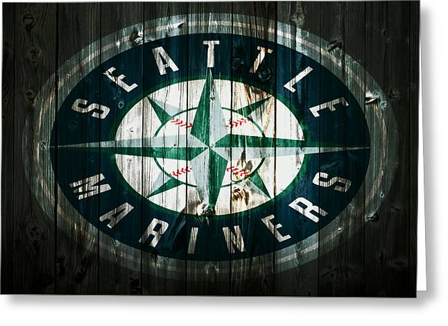 The Seattle Mariners 2b Greeting Card by Brian Reaves