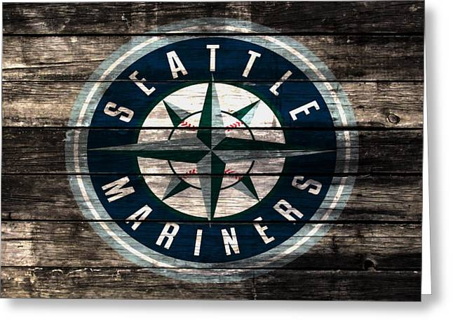 The Seattle Mariners 3b Greeting Card by Brian Reaves