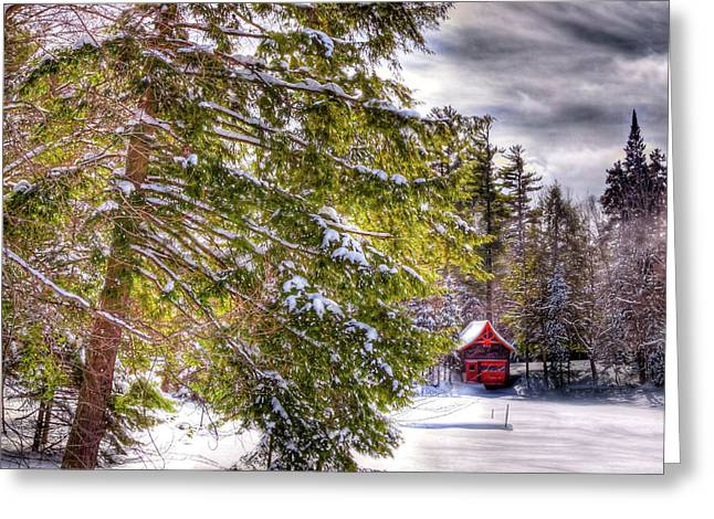 Greeting Card featuring the photograph The Secluded Boathouse by David Patterson