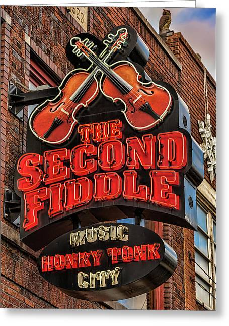 Greeting Card featuring the photograph The Second Fiddle Nashville by Stephen Stookey