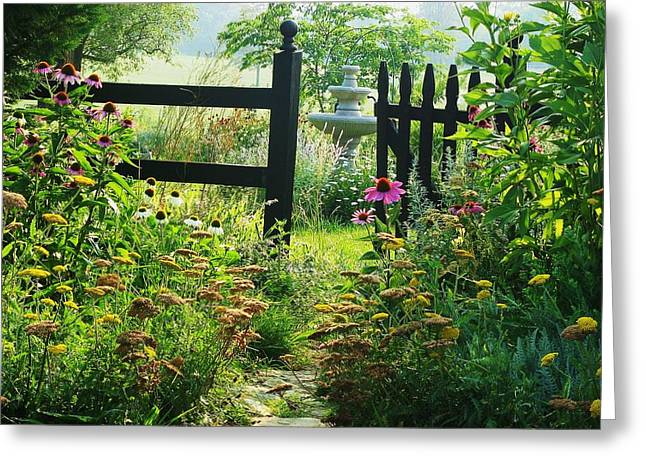 The Secret Garden Greeting Card by Joyce Kimble Smith