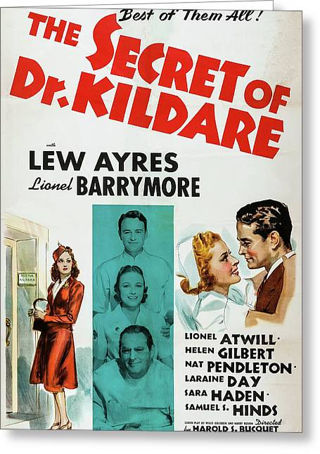 The Secret Of Dr Kildare 1939 Greeting Card