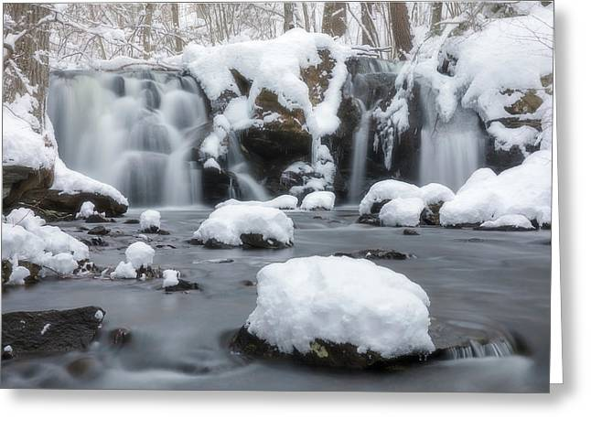 The Secret Waterfall In Winter 1 Greeting Card
