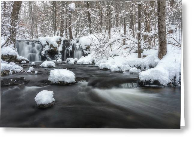 The Secret Waterfall In Winter 2 Greeting Card