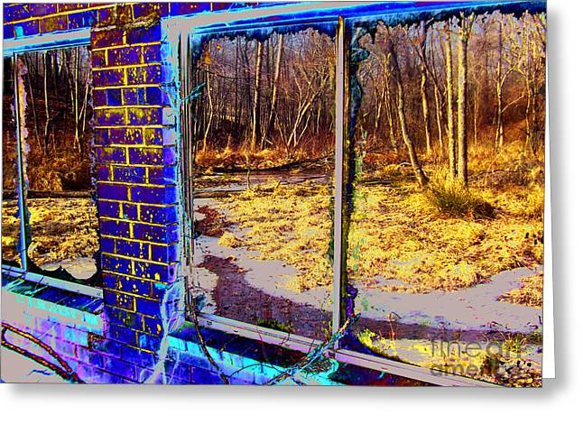 The Secret Window Greeting Card by Kimmary MacLean