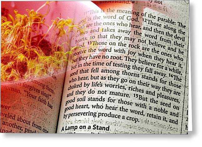 The Seed Is The Word Of God Greeting Card