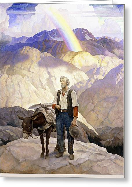 The Seeker Greeting Card by Newell Convers Wyeth