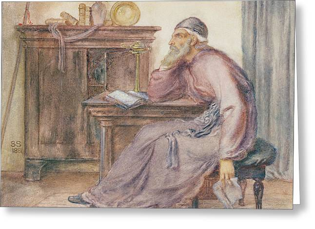 The Seer Greeting Card by Simeon Solomon