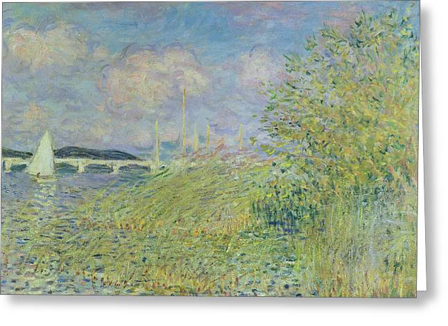 The Seine At Chatou Near Argenteuil, 1878 Greeting Card by Claude Monet