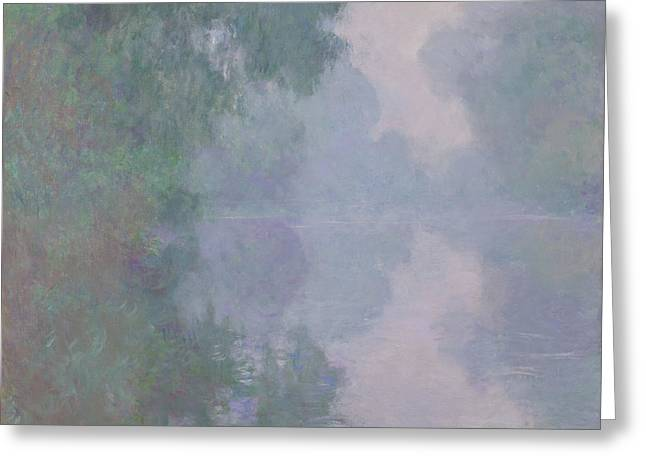 The Seine At Giverny, Morning Mists, 1897 Greeting Card