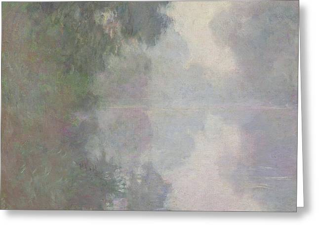 The Seine At Giverny, Morning Mists Greeting Card by Claude Monet