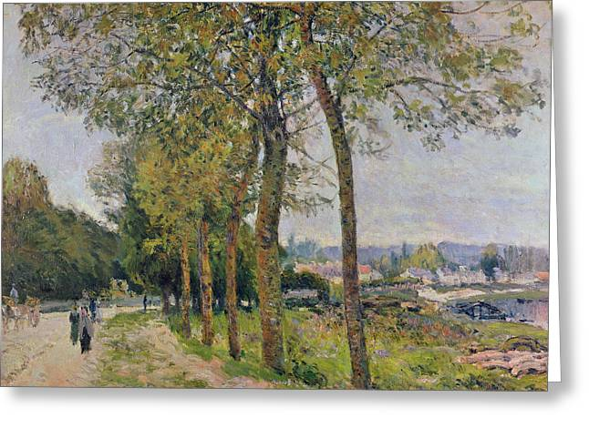 The Seine At Marly Greeting Card by Alfred Sisley