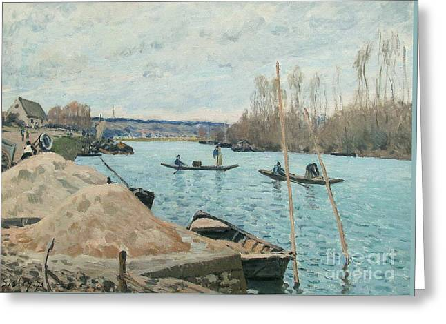 The Seine At Port-marly Greeting Card