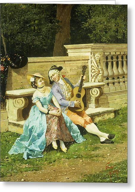 The Serenade Greeting Card by Filippo Indoni