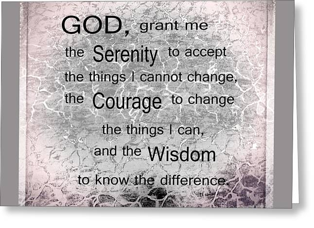 The Serenity Prayer Greeting Card by Beverly Guilliams